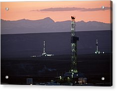 Natural Gas Drilling Rigs Dot Acrylic Print by Joel Sartore
