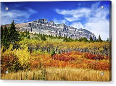 Natural Layers In Glacier National Park Acrylic Print