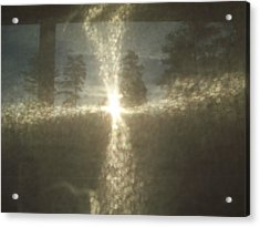 Acrylic Print featuring the photograph Natural Sun Cross by Robin Coaker