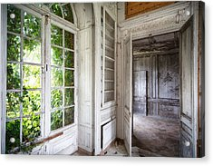 Nature Closes The Window - Urban Decay Acrylic Print