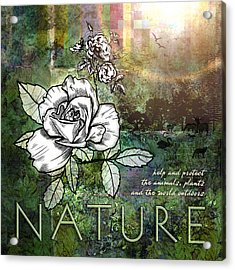 Nature Acrylic Print by Evie Cook