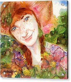 Nature Girl Acrylic Print by Erika Nelson
