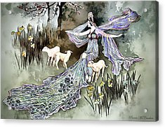Acrylic Print featuring the digital art Nature Goddess by Pennie McCracken
