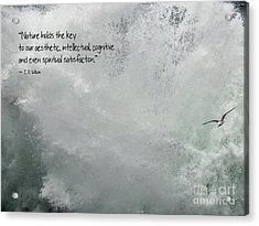 Acrylic Print featuring the photograph Nature Holds The Key by Peggy Hughes