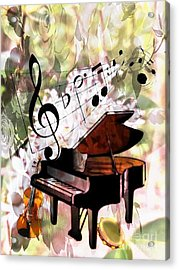 Nature Is Music To My Soul Acrylic Print by Maria Urso