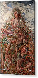 Acrylic Print featuring the painting Nature Or Abundance by Leon Frederic