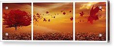 Nature's Art Acrylic Print by Lourry Legarde