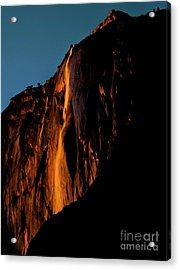 Natures Fire Fall Acrylic Print