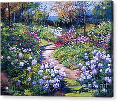 Nature's Garden Acrylic Print by David Lloyd Glover