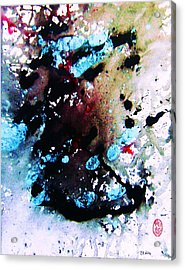 Acrylic Print featuring the painting Natures Influence Winter by Roberto Prusso