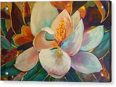 Acrylic Print featuring the painting Nature's Jewelry by AnnE Dentler