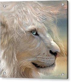 Nature's King Portrait Acrylic Print by Carol Cavalaris