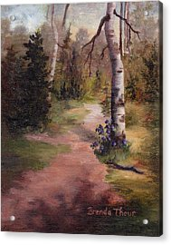 Acrylic Print featuring the painting Natures' Trail by Brenda Thour