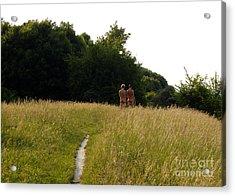 Naturist Danube Island Vienna Austria 2009 Acrylic Print by Wayne Higgs