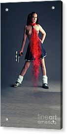 Naughty Schoolgirl Acrylic Print