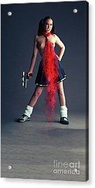 Naughty Schoolgirl Acrylic Print by Nichola Denny