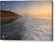 Nauset Light On The Shoreline Of Nauset Acrylic Print by Michael Melford
