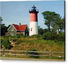 Acrylic Print featuring the photograph Nauset Lighthouse by Frederic Kohli