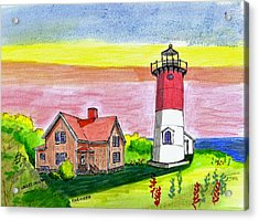 Nauset Point Lighthouse Acrylic Print by Paul Meinerth