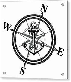 Nautica Bw Acrylic Print