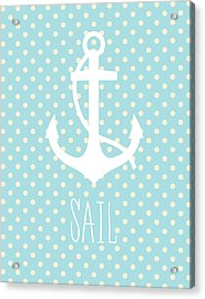 Nautical Anchor Art Print Acrylic Print