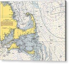 Vintage Cape Cod Nautical Chart 1945h Acrylic Print