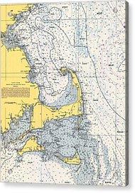 Vintage Cape Cod Nautical Chart 1945v Acrylic Print