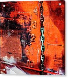 Nautical Industrial Art Again Square Acrylic Print