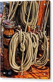 Nautical Knots 16 Acrylic Print by Mark Myhaver
