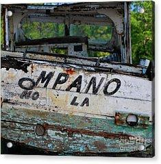 Acrylic Print featuring the photograph Nautical Miles by Lori Mellen-Pagliaro