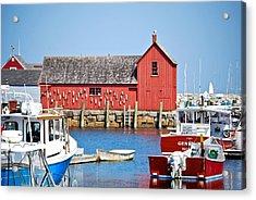 Nautical Rockport Days Acrylic Print