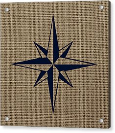 Nautical Star Burlap Acrylic Print