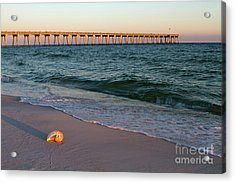 Acrylic Print featuring the photograph Nautilus And Pier by Steven Frame