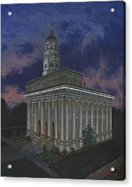 Nauvoo Sunset Acrylic Print by Jeff Brimley