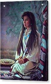 Navajo Beauty Acrylic Print by Jean Hildebrant