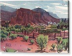 Navajo Corral Acrylic Print by Donald Maier