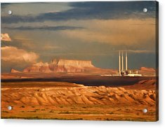 Navajo Generating Station Acrylic Print by Lana Trussell