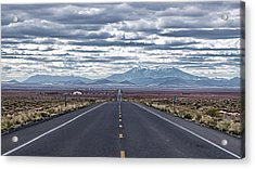 Navajo Route 15 Acrylic Print by Charles Ables