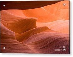 Navajos Lower Antelope Canyon Acrylic Print by Julia Hiebaum