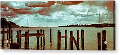 Acrylic Print featuring the photograph Naval Academy Sailing School by T Brian Jones
