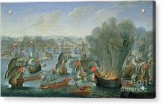 Naval Battle With The Spanish Fleet Acrylic Print