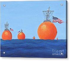 Naval Oranges Acrylic Print
