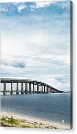 Acrylic Print featuring the photograph Navarre Bridge In Florida On The Sound Side by Shelby Young