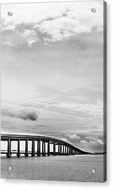 Acrylic Print featuring the photograph Navarre Bridge Monochrome by Shelby Young