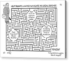 Navigate The Trump Legal Defense Acrylic Print