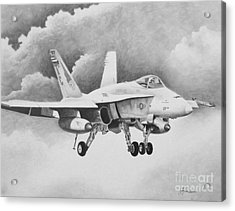 Navy Hornet Acrylic Print by Stephen Roberson