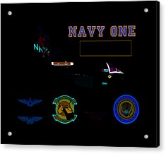 Navy One Acrylic Print by Mike Ray