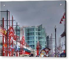 Navy Pier Acrylic Print by Barry R Jones Jr