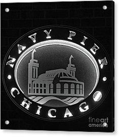Navy Pier Chicago Sign Acrylic Print