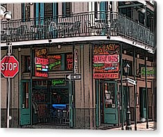 Nawlins Acrylic Print by David Bearden